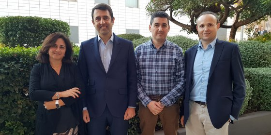 Nuevo consejo de administración de Aside. De izqda. a der.: Cira Linares, Antonio González, Argimiro Fernández y Ferran Marco.